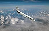 NASA's C-9 zero-gravity aeroplane