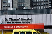 Hospital casualty department entrance