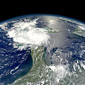 Tropical Storm Ernesto,satellite image