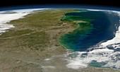 Gulf of Mexico coast,satellite image