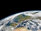 Western Europe,satellite image