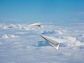 Paper aeroplanes,artwork