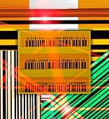 Barcode scanning,conceptual artwork
