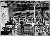 Telegraph office battery room,1889