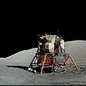 Apollo 17 lunar module,astronaut photo