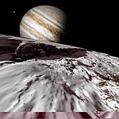 Jupiter from Europa,artwork