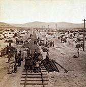 Laying Transcontinental Railroad,1860s