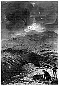Davy experimenting at Vesuvius,1819