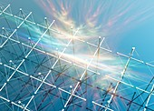 HAARP array for auoral research,artwork