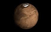Mars topography,artwork