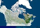 Quebec,Canada,satellite image
