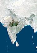 Madhya Pradesh,India,satellite image
