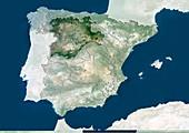 Castile and Leon,Spain,satellite image