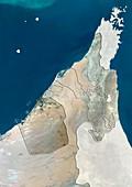 Dubai,UAE,satellite image
