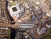 Millennium Stadium,Wales,aerial view