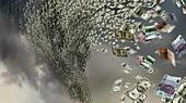 Financial storm,conceptual artwork