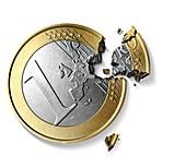 Eurozone break-up,conceptual image