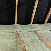 Loft insulation,glass mineral wool