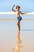 Young boy on a beach