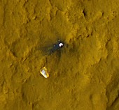 Curiosity debris on Mars,satellite image