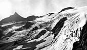 Harrison Glacier,Montana,USA,in 1913