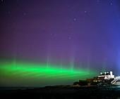 Aurora borealis,Whitley Bay,UK