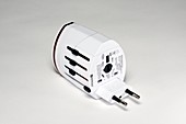 Plug adapter with European prongs