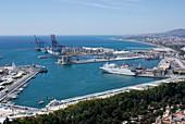 Docks in Malaga,Spain