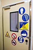 Cleanroom entrance at Baikonur Cosmodrome