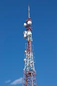 Microwave tower in Baikonur,Kazakhstan