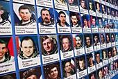 Cosmonaut photographs in Baikonur museum