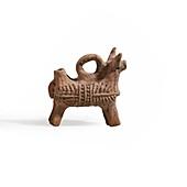 Zoomorphic terracotta vessel
