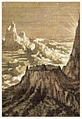 Lunar landscape,19th century