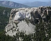 Mount Rushmore,USA,aerial image