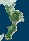 Calabria,Italy,satellite image