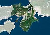 Kansai,Japan,satellite image