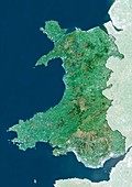 Wales,UK,satellite image