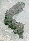 Hauts-de-Seine,France,satellite image