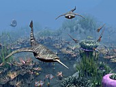 Devonian sea,artwork