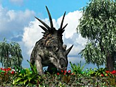 Styracosaurus,artwork