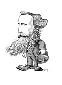 James Clerk Maxwell,caricature