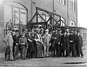 Lord Kelvin visiting a train factory,USA