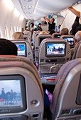 Economy class seating on Airbus A380