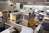 Business class seating on Airbus A380