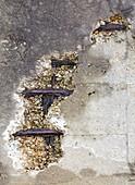 Water damaged concrete