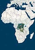 DR Congo,satellite image