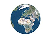 Europe and Africa,relief map