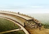 Viking ring fortress wall,artwork