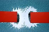 Repulsion between like magnetic poles
