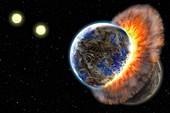 BD+20 307 planetary collision,artwork